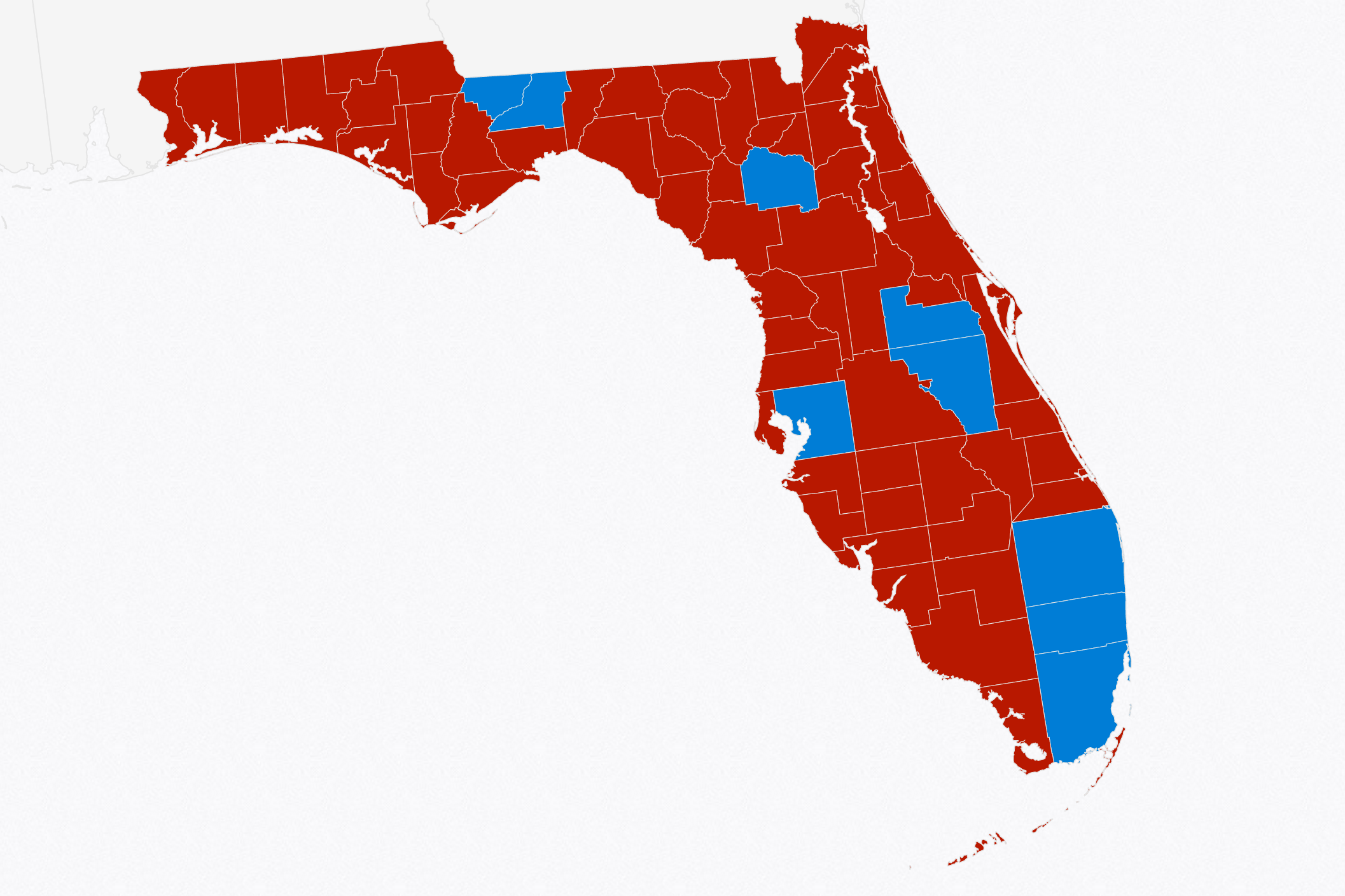 2016 Florida elections by county
