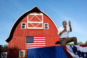 President Barack Obama holds a town hall meeting at the Seed Savers Exchange in Decorah, Iowa, on the first day of a three-day Economic Bus Tour in the Midwest, Aug. 15, 2011.  (Official White House Photo by Pete Souza)